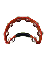 Rhythm Tech RT1110 - Orange Neon Tambourine, Steel Jingles