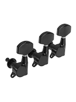Gotoh SG381 large buttons, 3 + 3, Black