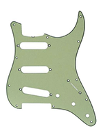 Parts Strat Pickguard Mint Green/Black/MintGreen