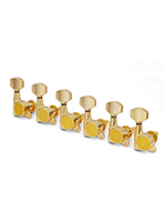 Gotoh SG381 large buttons, 6 Linea Gold
