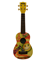 Makala Ukulele Soprano Peace and Love Ukadelic
