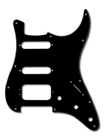 Parts Pickguard Hss Black/White/Balck