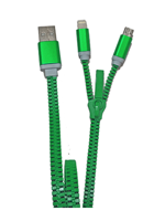 Zzipp ZZACC2 USB Cable x iOS e Android Green