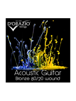 D'orazio 80/20 Acoustic Bronze Light 12String