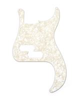 Allparts PG-0750-065 Parchment Pearloid Pickguard for Precision Bass