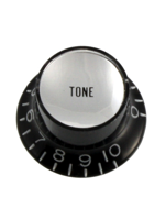 Allparts PK-0182-023 Black Tone Reflector Knobs