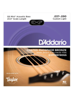 Daddario EXPPBB190GS Phosphor Bronze Coated Acoustic Bass Strings, Taylor GS Mini Scale, 37-90