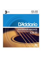 Daddario EJ16-3D Phosphor Bronze Light