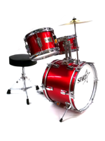 Darestone JDR3RD - Batteria Start Junior 3 Pezzi in Metallic Red