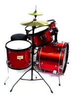Darestone JDR5RD - Batteria Start Junior 5 Pezzi In Metallic Red