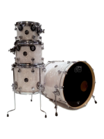 Dw (drum Workshop) Performance - 4-Pcs Drumset in White Marine Pearl