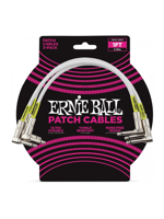 Ernie Ball 6055 Patch Cable 3PK White