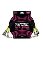 Ernie Ball 6075 Patch Cable 3PK Black