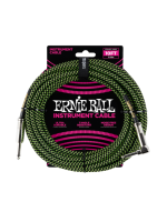 Ernie Ball 6077 Braided Cable Black/Green