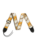Fender Monogrammed White/Brown/Yellow