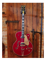 Gretsch 6120 MasterBuilt White Falcon Relic Firebird Red