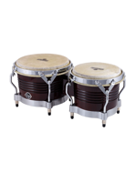 Lp M201 Matador Bongos, Dark Wood/Chrome Hardware