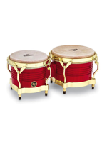 Lp M201-RW Matador Bongos, Red/Gold Hardware