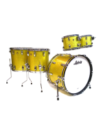 Ludwig L84205AXT9 - Set di Batteria 5 Pezzi Classic Maple In Yellow Glitter