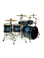 Mapex SV628XEB MSL - Set di Batteria Saturn V MH Exotic Studioease 5 Pezzi in Deep Water Maple Burst