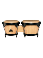 Nino 3NT-BK Wood Bongos Natural/Black