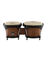 Nino 3WB-BK Wood Bongos Walnut/Black