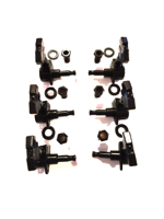 Parts Tuning Machines 3+3 Black Set Imperial