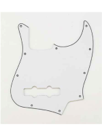 Parts Pickguard white jazz bass 3 ply