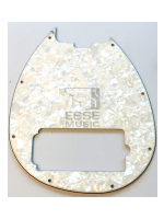Parts Pickguard White perloid Music Man 5 Strings
