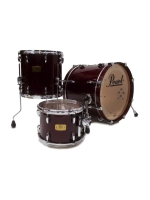 Pearl MRX Master Custom Extra - 3 Pcs Drumset in Wine Red