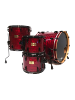 Pearl MSX-924XP 403 - 4-pcs Masters Retrospec Drumset in Red Onyx