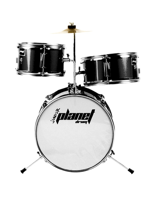 Planet Baby - 3 Pcs Drumset In Black