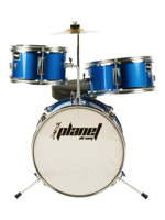 Planet Baby - 3 Pcs Drumset In Metallic Blue