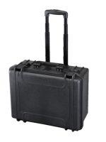 Plastica Panaro MAX465H220STR  - Black - with trolley, with cubed foam