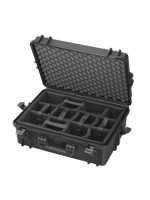 Plastica Panaro MAX505 CAM.079 - Black, with compartments