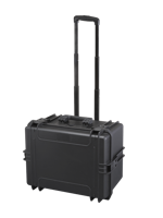 Plastica Panaro MAX505H280STR.079 - Black, with trolley, with cubed foam