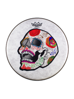 Remo CS-0814-20-AB002 - José Pasillas Candy Skull ArtBEAT - Artist Collection Drumhead