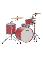Remo L24023TX3U - Neusonic Drumset in Coral Red