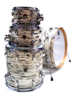 Sakae Trilogy 4-Pieces Drumset in Mint Oyster Pearl