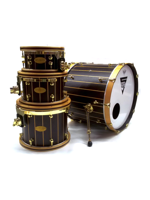 Stocco Drums Set Di Batteria Con Fusti A Doghe In Wenge