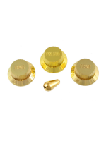 Wilder PK-0178-002 Knob Set Stratocaster Metallic Gold