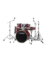 Yamaha SBP0F5CR6W - Stage Custom 5-Piece Drumset in Cranberry Red