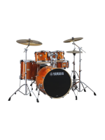 Yamaha SBP0F5HA6W - Set di Batteria Stage Custom 5 Pezzi in Honey Amber