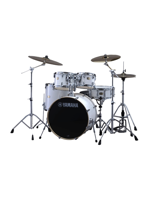 Yamaha SBP0F5PWH6W - Stage Custom 5-Piece Drumset in Pure White - Expo